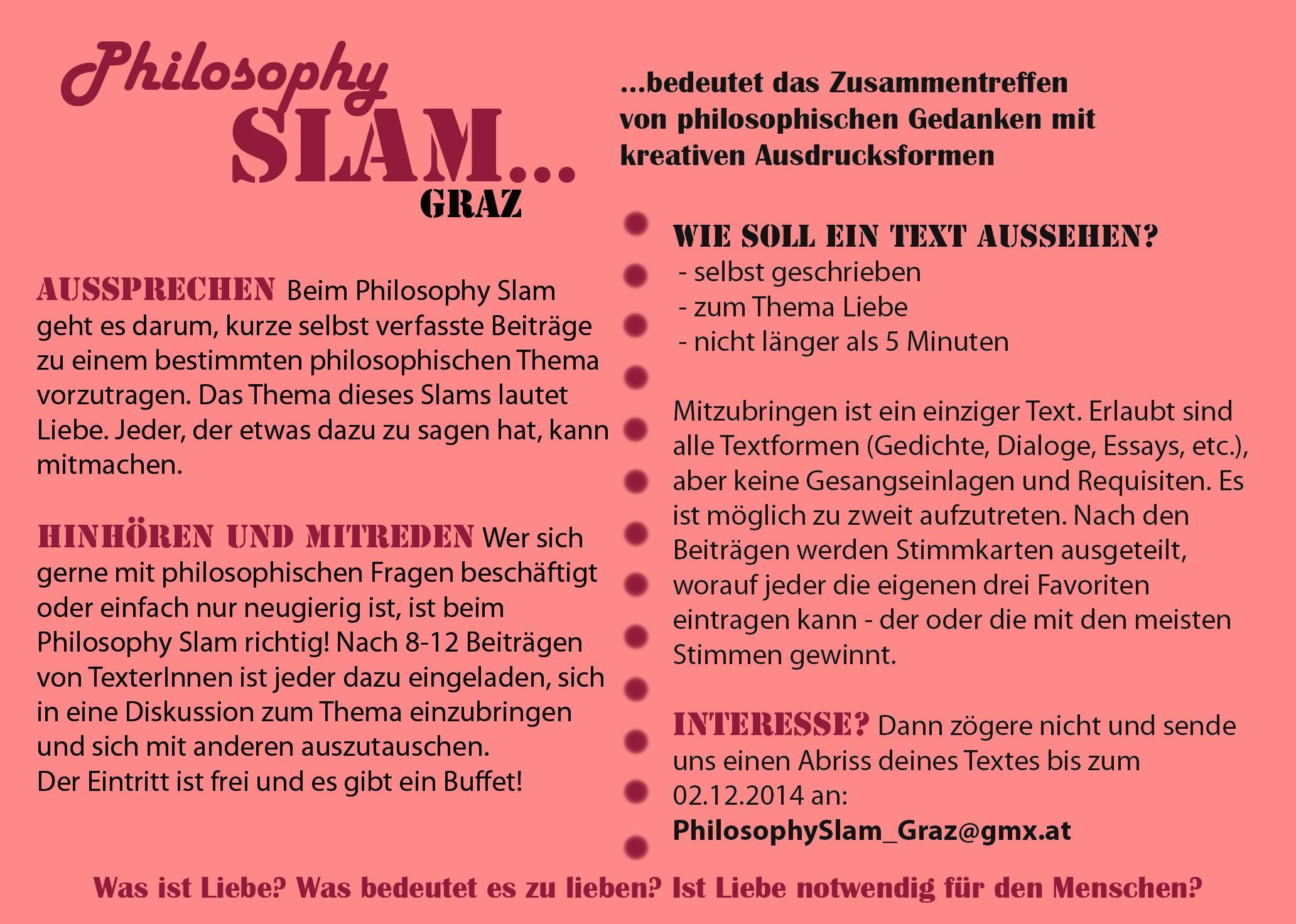 philosophy slam graz 8 liebe poetry slam portal sterreich. Black Bedroom Furniture Sets. Home Design Ideas